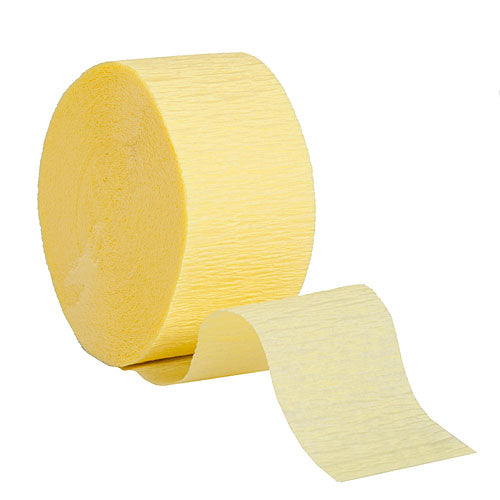 "Mimosa Crepe Streamers, Roll, 1.75""X81'"