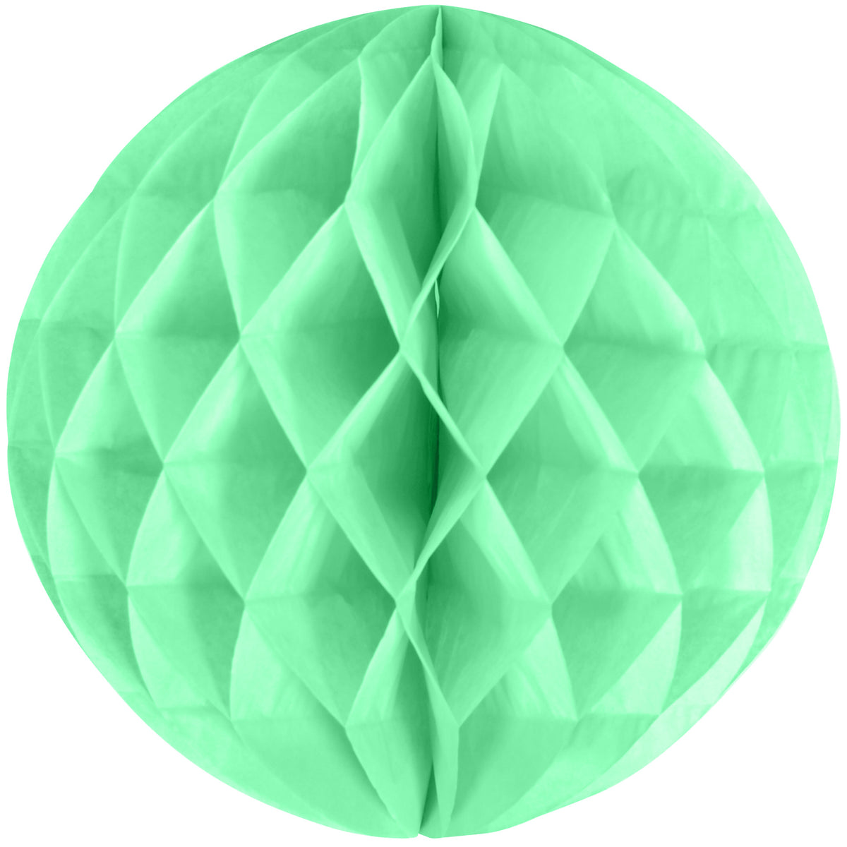 10 IN HONEYCOMB TISSUE BALL MINT GREEN  EACH
