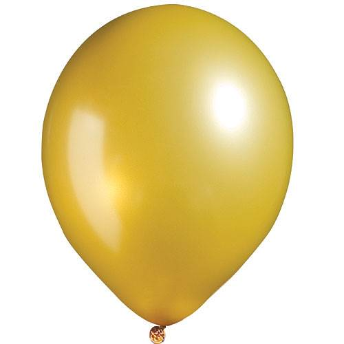 Gold Metallic Balloons, Pkg/100, 11""
