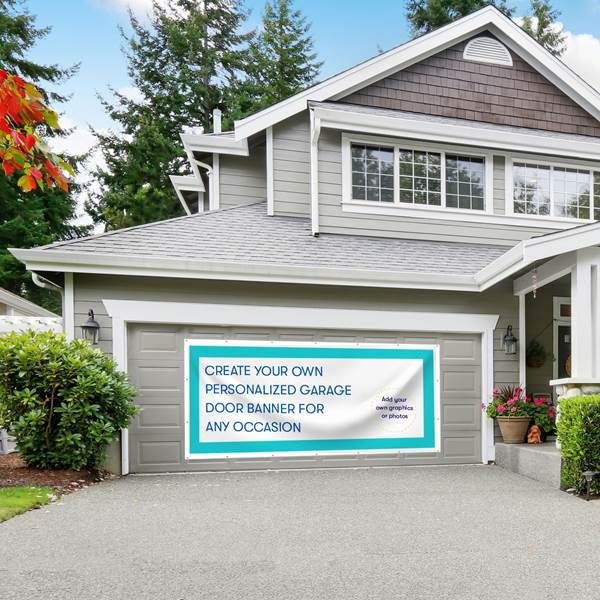 Custom Garage Door Banner, 5' X 10 1/2'