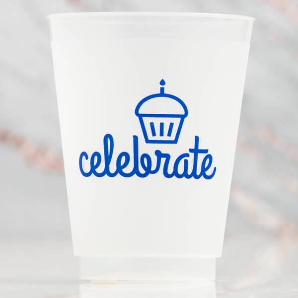 Reusable Celebrate Frosted Cups 16 ounce pkg/10