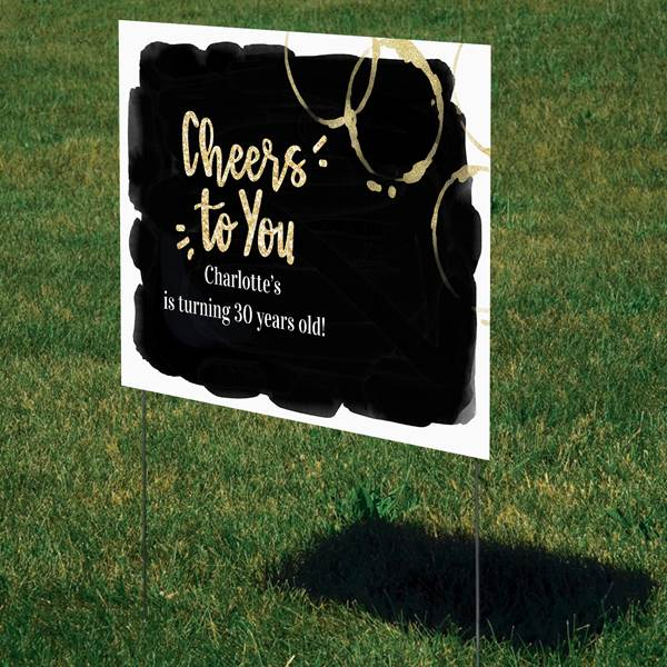 "Cheers! Personalized Yard Sign, 15"" X 22"""