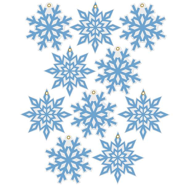 Snowflake Cutout Set with Grommets Set/10