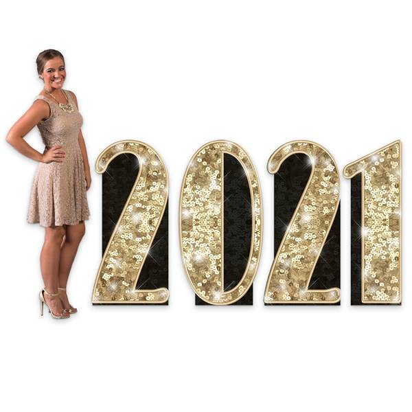 2021 Sequins & Bow Ties Number Set