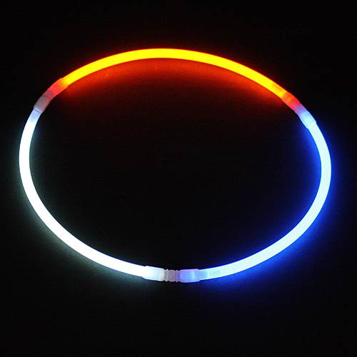 Red, White and Blue Glow Necklaces pkg/25
