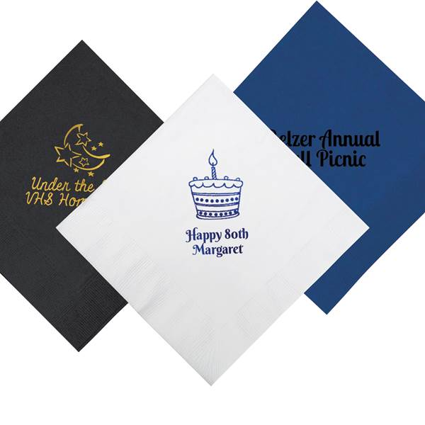 Personalized Beverage Napkins, Pkg/50