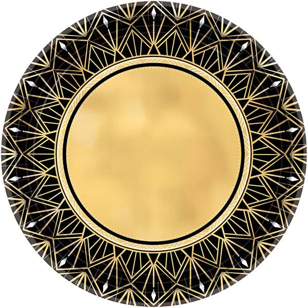 Glitz and Glam Metallic Dessert Plates pkg/8
