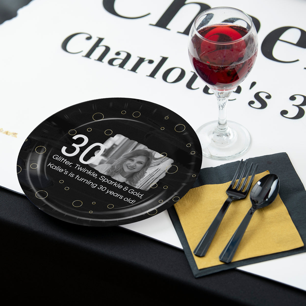 Cheers! Personalized Dinner Plates, Pkg/8, 9""