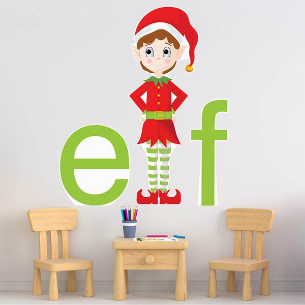 Elfville Letter Removeable Wall Decal Set