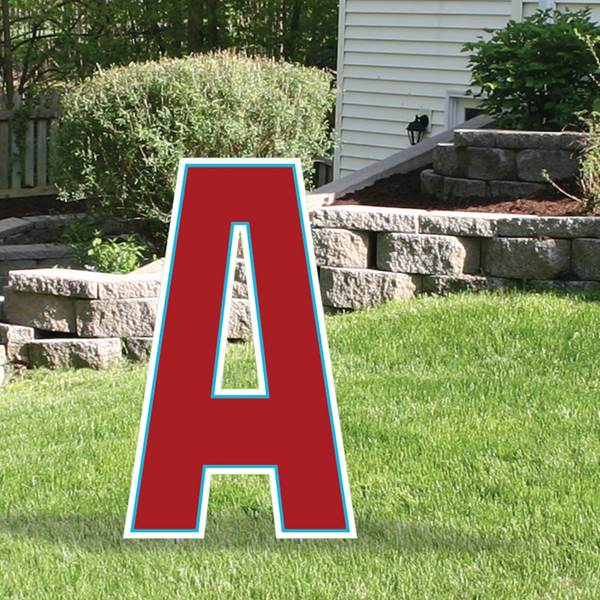Yard Sign Expression Letter A