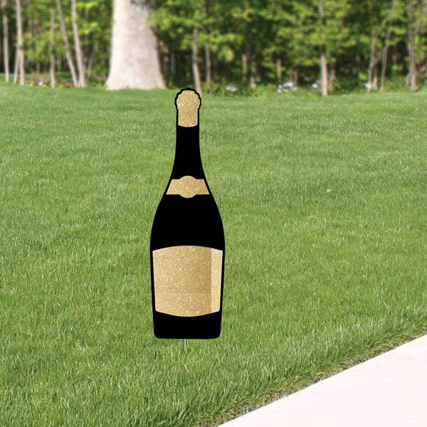 Cheers to You Champagne Bottle Yard Sign Expression Icon, 35""