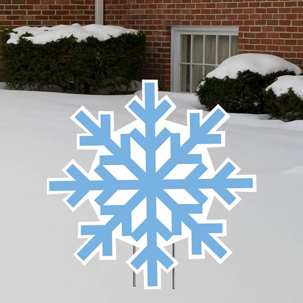 3 Foot Snowflake Yard Sign Expression Icon