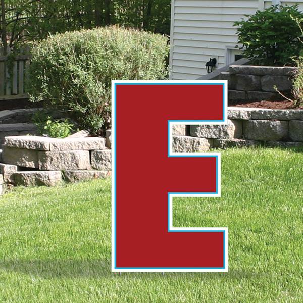 Yard Sign Expression Letter E