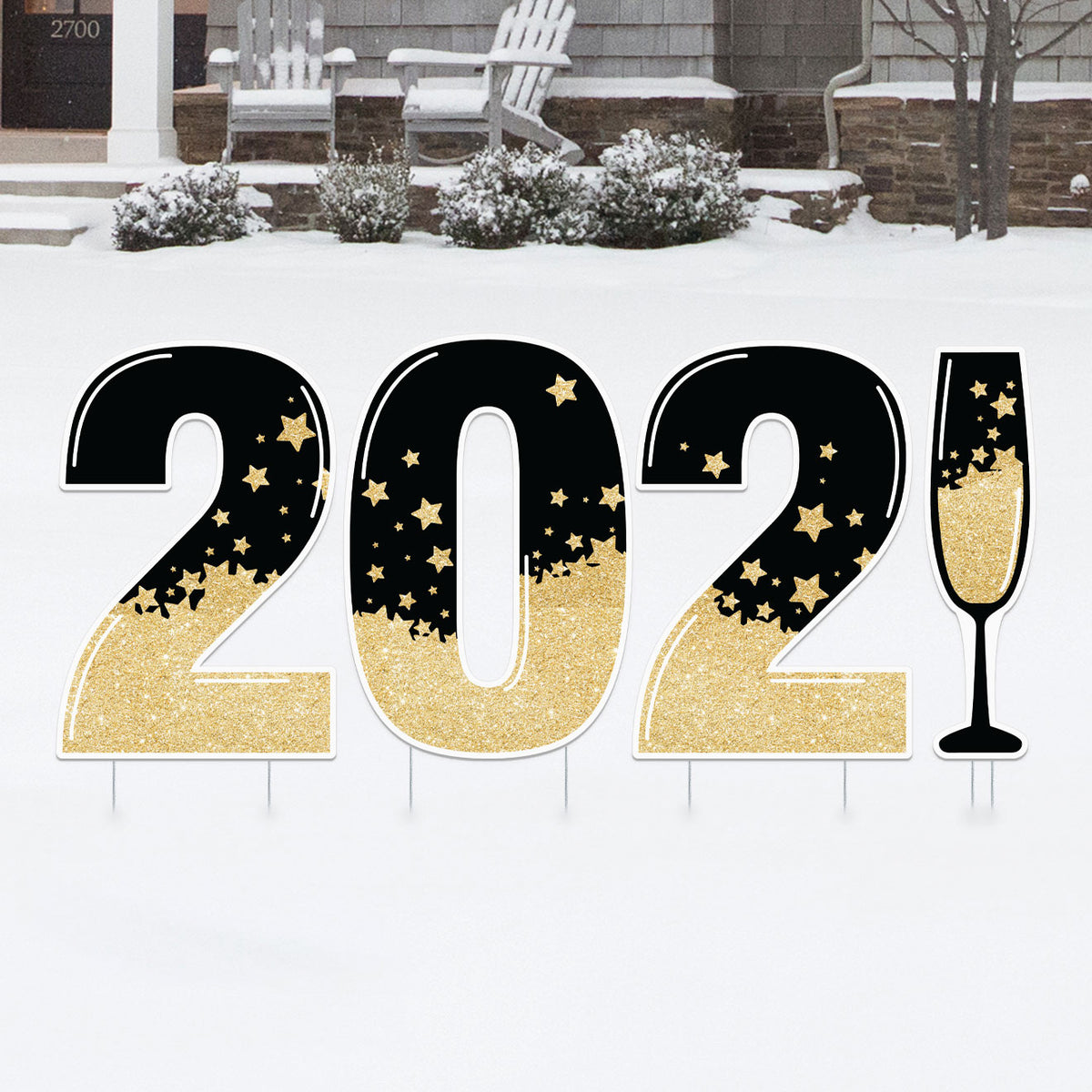 2021 New Year's Yard Sign Number Set