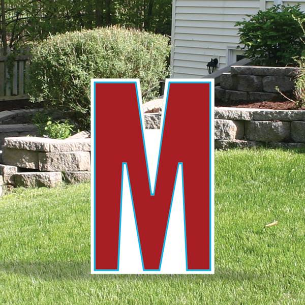 Yard Sign Expression Letter M