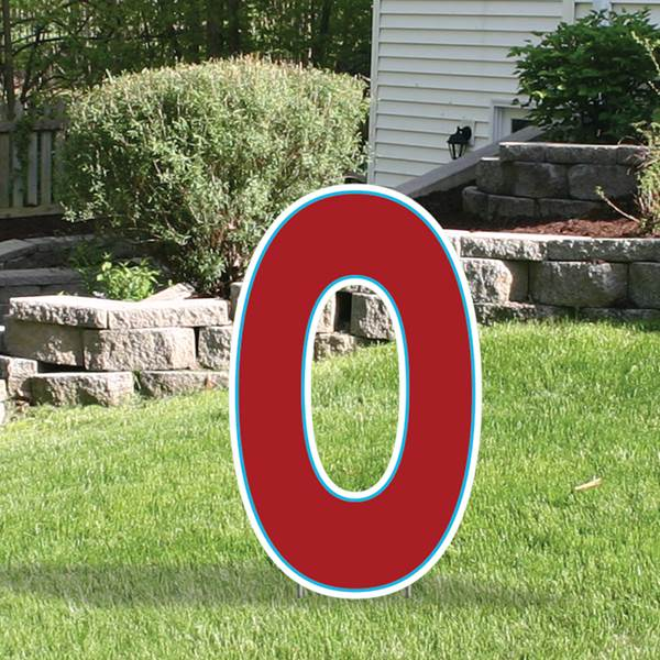 Yard Sign Expression Letter O