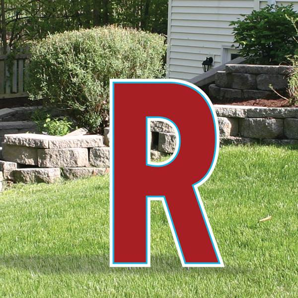Yard Sign Expression Letter R