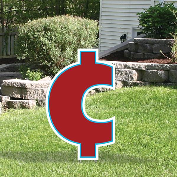 Yard Sign Expression Cent Symbol