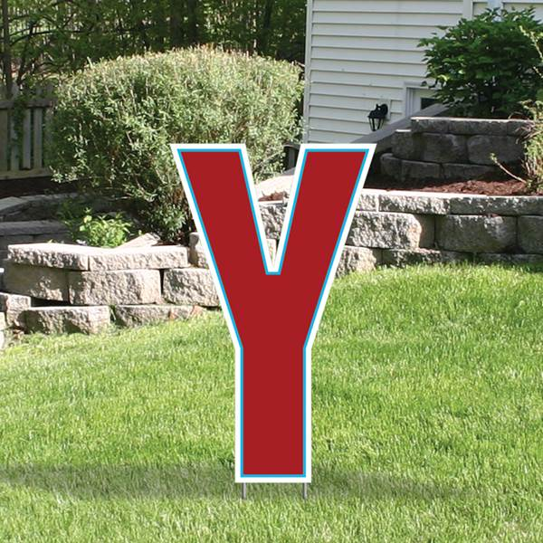 Yard Sign Expression Letter Y