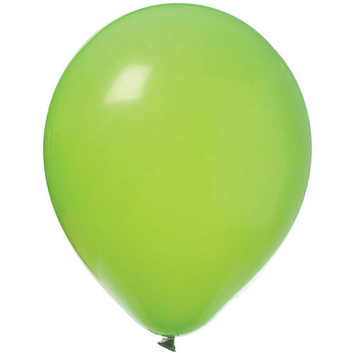 Lime Green Latex Balloons Bright Tone, Pkg/12, 11""