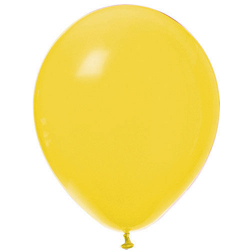 Yellow Latex Balloons Bright Tone, Pkg/12, 11""