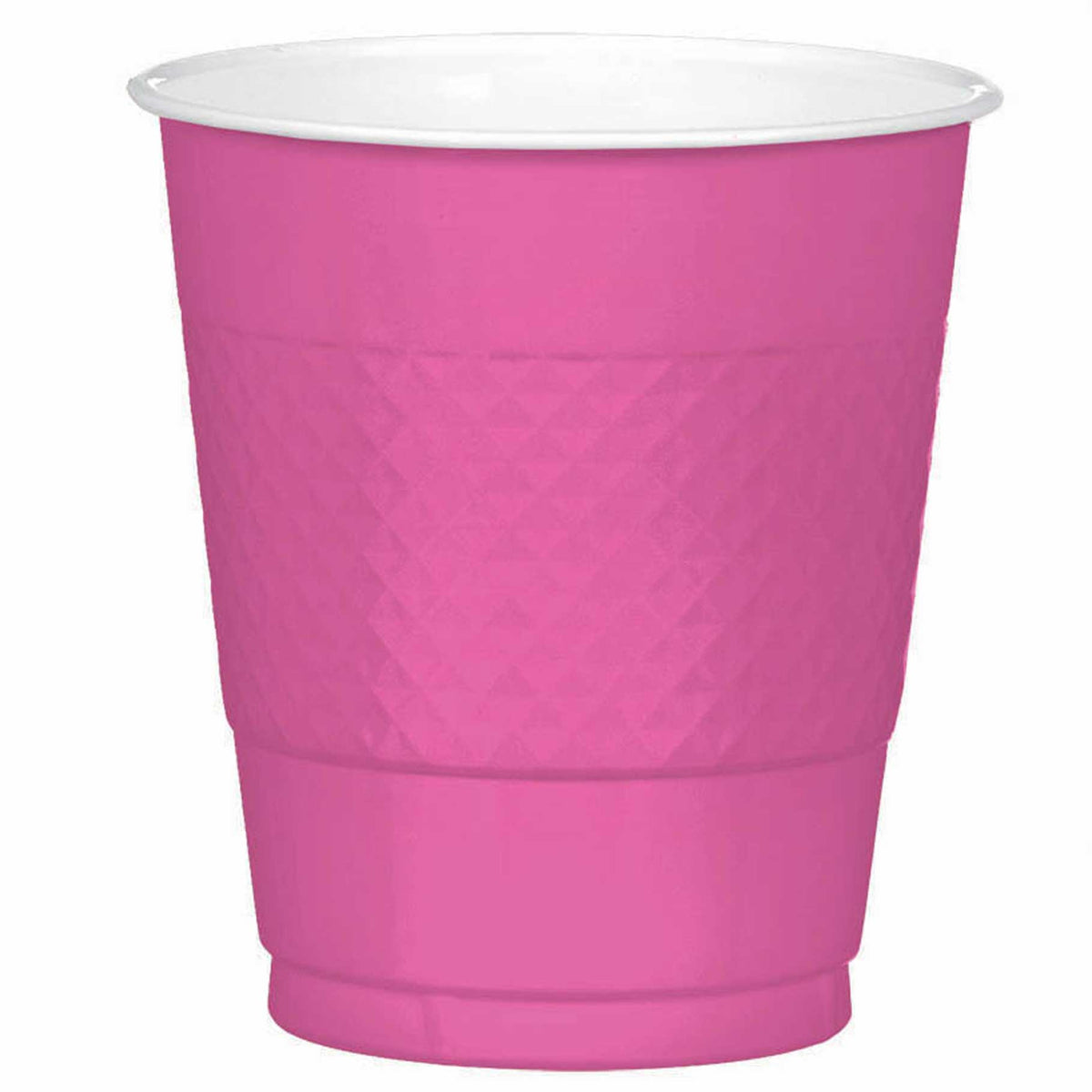 Candy Pink Plastic Cups, Pkg/20, 12 oz