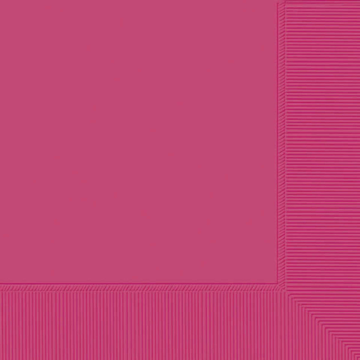 Hot Pink Luncheon Napkin Plain, Pkg/50