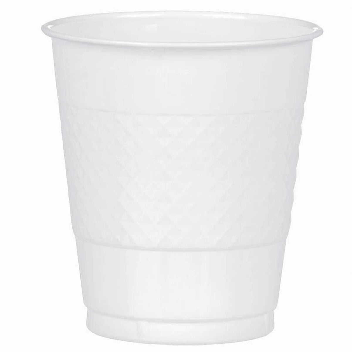 White Plastic Cups, Pkg/20, 12 oz