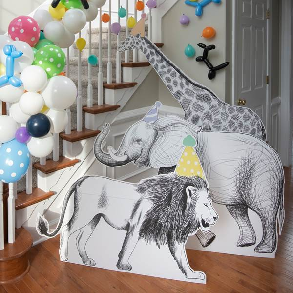 3 ft. to 6 ft. 2 in. Party Animal Standee Set