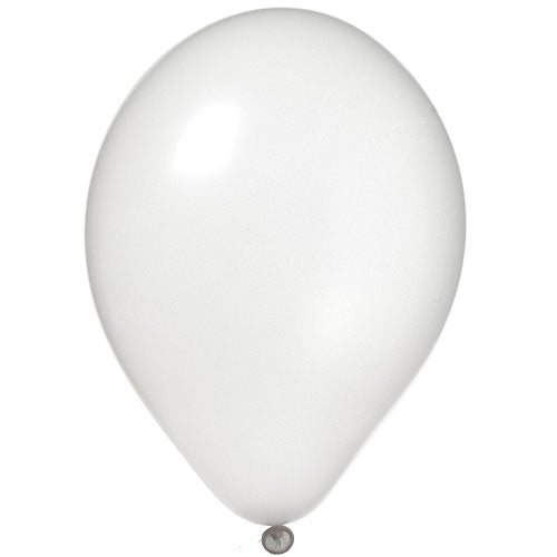 White Latex Balloons Pearl, Pkg/12, 11""