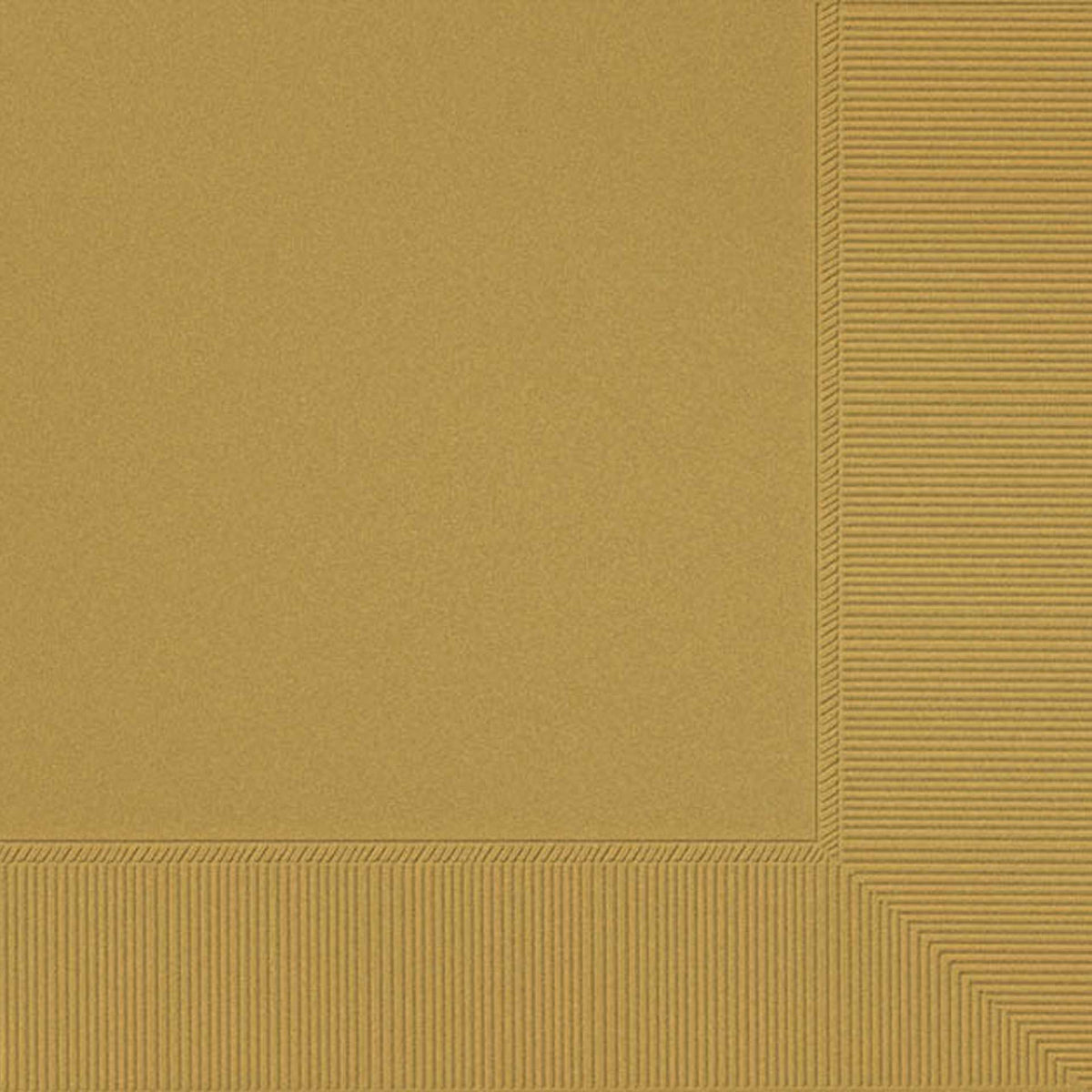 Gold Luncheon Napkin Plain, Pkg/50