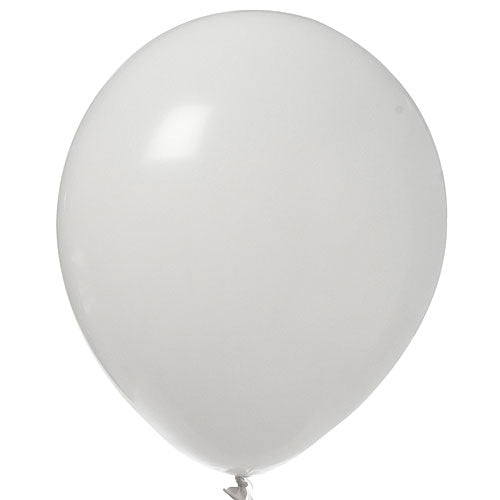 White Latex Balloons Bright Tone, Pkg/12, 11""