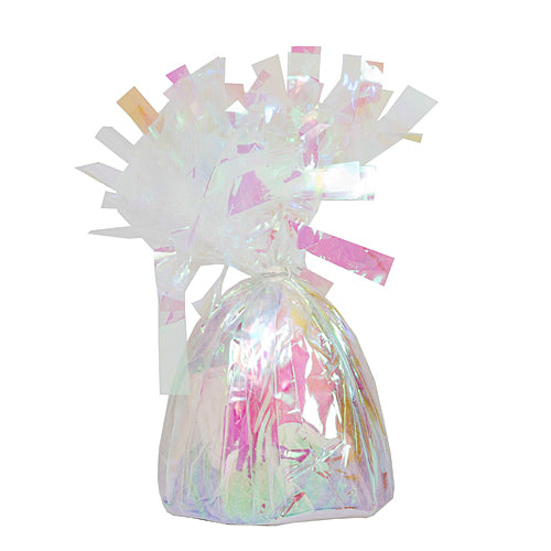 Iridescent Foil Ballons Weights, Pkg/6