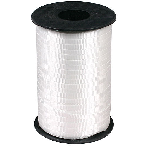 White Decorating Curling Ribbon, roll, 500 yds