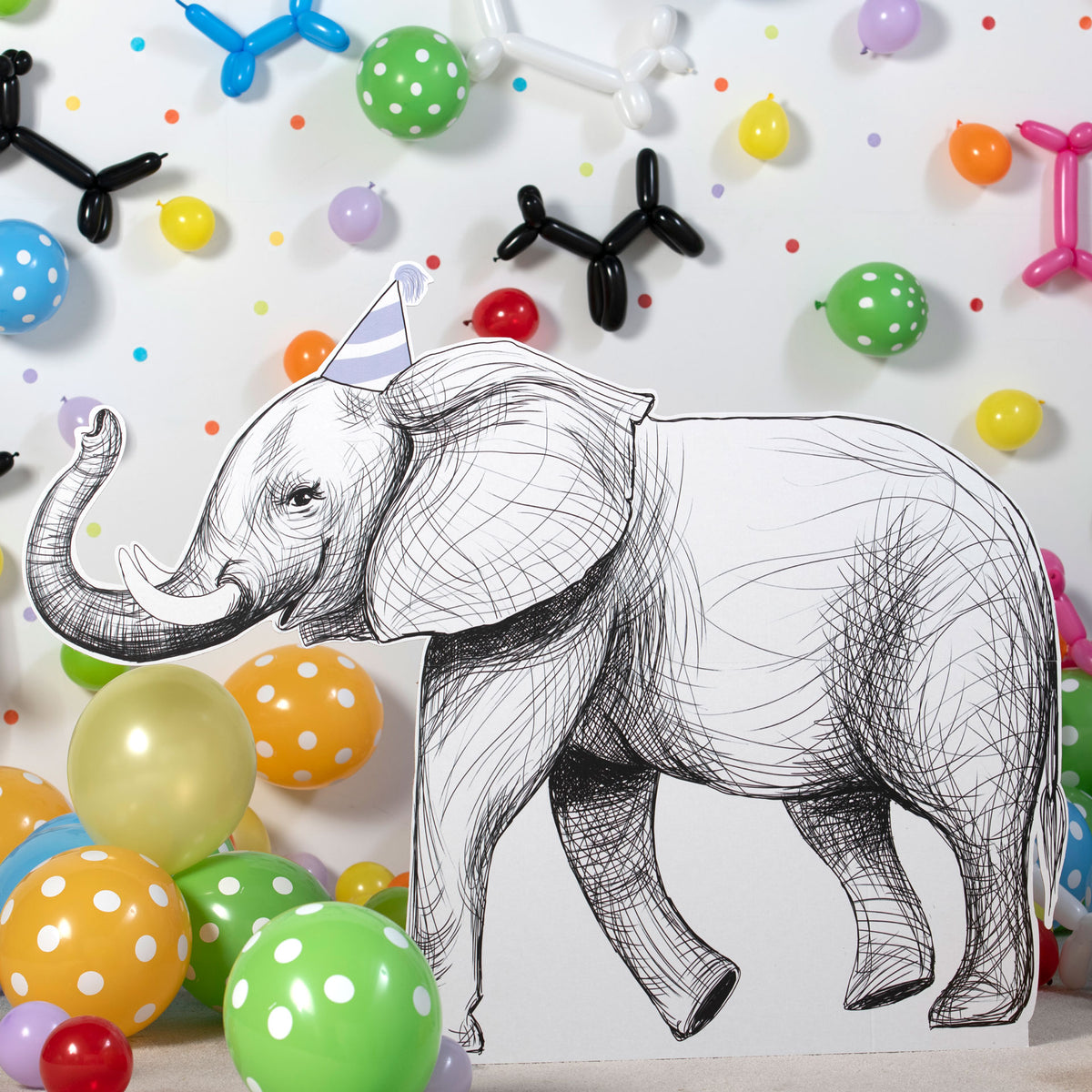 Party Animal Elephant Standee, 3'6""