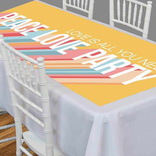 Peace, Love, Party Personalized Table Top-It, 5'8""