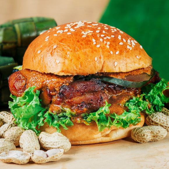Grilled Satay Burger