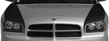 Dodge Charger 2006 Hood Side Blackouts on Vehicle