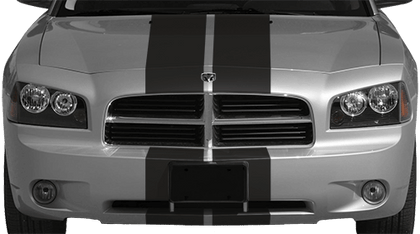 Dodge Charger 2006 Rally Racing Dual Stripes Kit on Vehicle