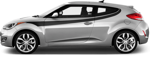 Hyundai Veloster 2011 Upper Side Swoosh Stripes on Vehicle