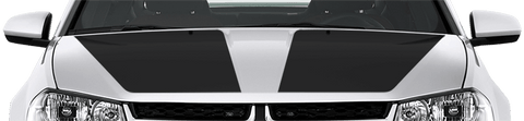 Dodge Avenger 2008 Main Hood Decals on Vehicle
