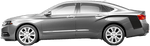 Chevy Impala 2013 Rear Quarter Hockey Stripes on Vehicle