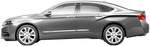 Chevy Impala 2013 Rear Quarter Stinger Stripes on Vehicle