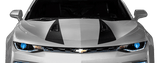 Chevy Camaro 2016 Hood Spear Stripes on Vehicle