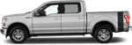 Ford F-150 2015 Bed Side Tail Stripes on Vehicle