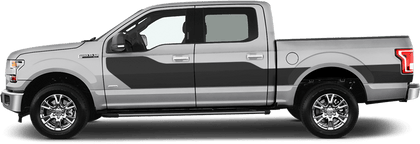 Ford F-150 2015 Hockey Billboard Side Stripes on Vehicle