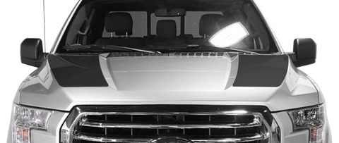 Ford F-150 2015 Hood Cowl Stripes on Vehicle