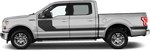 Ford F-150 2015 Hockey Stick Side Stripes on Vehicle