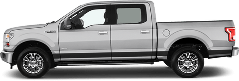 Ford F-150 2015 Rocker Panel Stripes on Vehicle