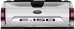 Ford F-150 2015 Tailgate F-150 Logo Inlay on Vehicle